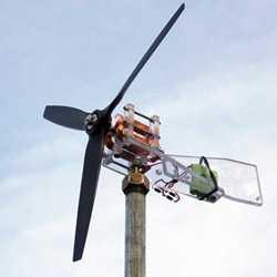 Генератор на комбайне в ветряк