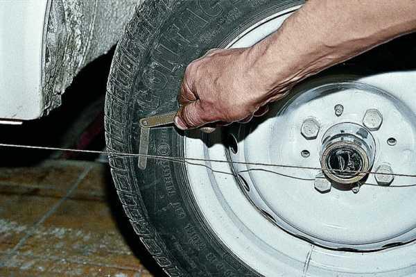 Как сделать развал схождения колес ваз 2106 в домашних условиях